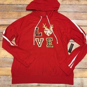 New Christmas holiday love sweatshirt XL